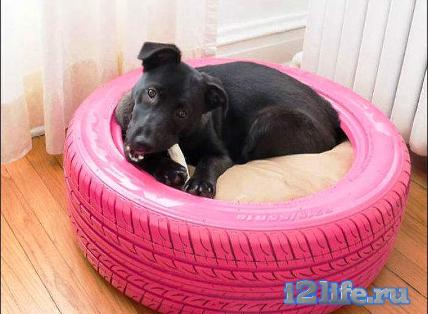 кровать для собаки из шины