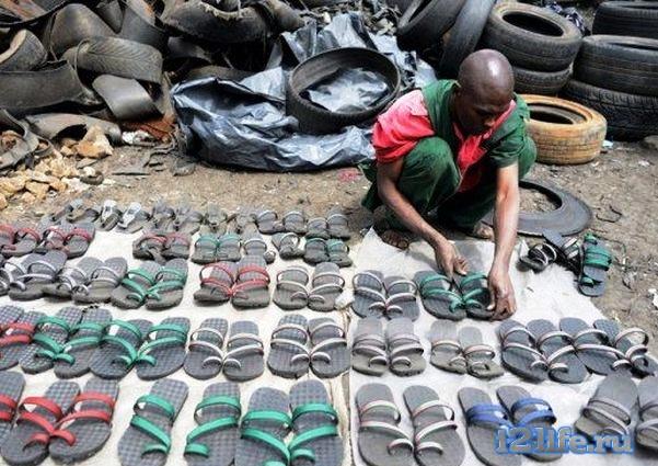 обувь из шины